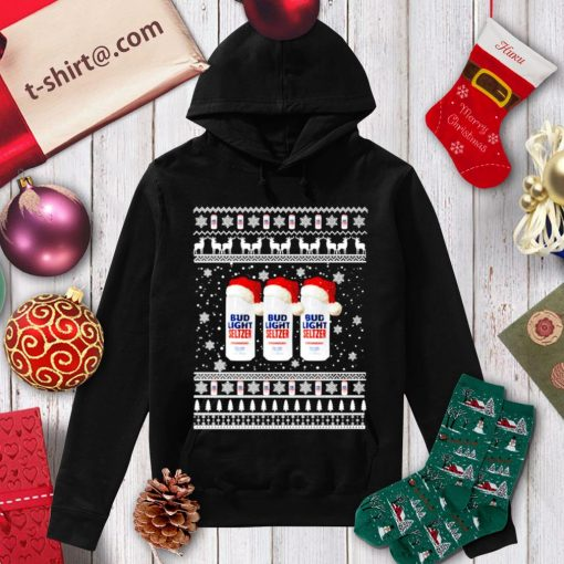 Santa Bud Light Seltzer ugly Christmas shirt, sweater hoodie