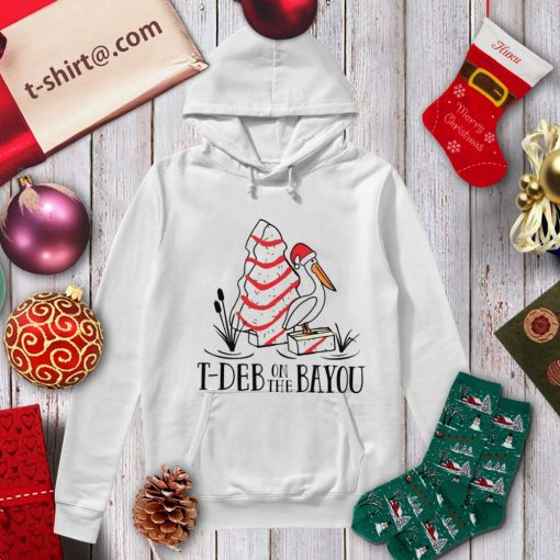 Stork cake T-deb on the bayou Christmas shirt, sweater hoodie