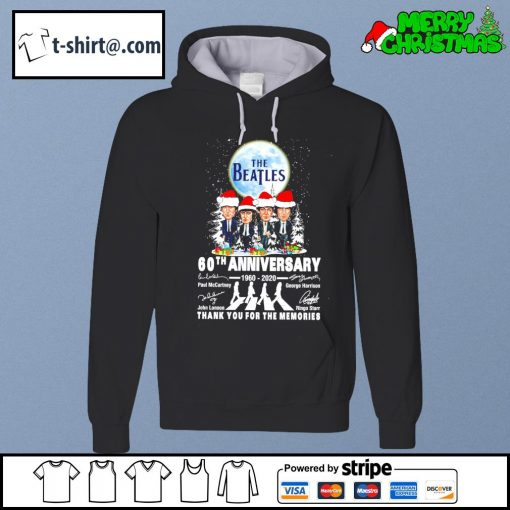 The Beatles 60th anniversary 1960-2020 thank you for the memories Abbey Road Christmas s hoodie