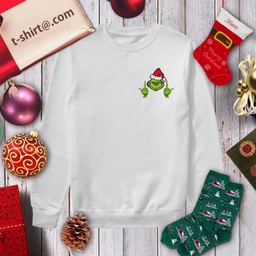 The Grinch middle finger crew neck shirt, sweater sweater