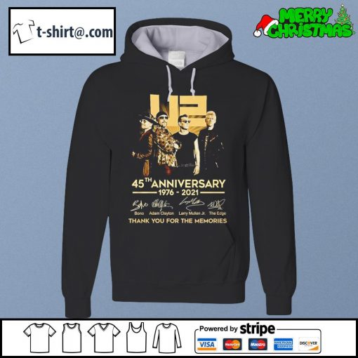 U2 45th anniversary 1976-2021 thank you for the memories s hoodie