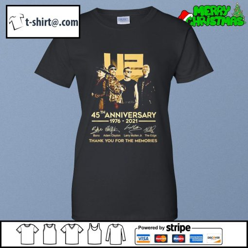 U2 45th anniversary 1976-2021 thank you for the memories s ladies-tee