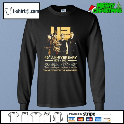 U2 45th anniversary 1976-2021 thank you for the memories s longsleeve-tee