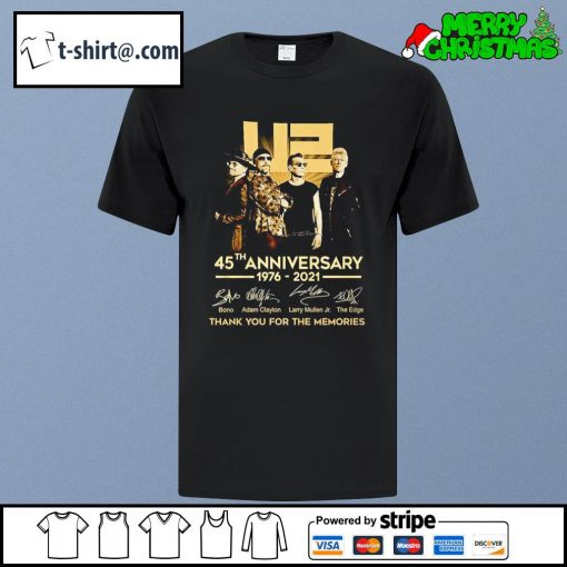 U2 45th anniversary 1976-2021 thank you for the memories shirt