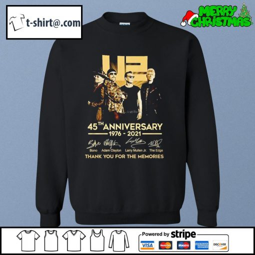 U2 45th anniversary 1976-2021 thank you for the memories s sweater