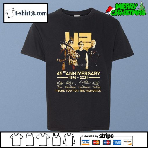 U2 45th anniversary 1976-2021 thank you for the memories s youth-tee