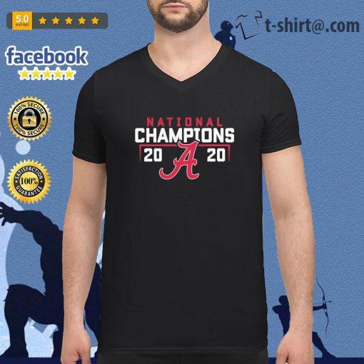Alabama Crimson Tide 2020 National Champions College Football Playoff s v-neck-t-shirt