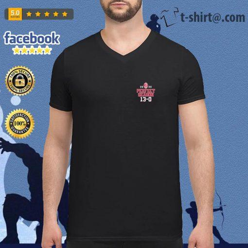 Alabama Crimson Tide 2020 Perfect Season 13 0 Dynasty Built by Bama National Champions s v-neck-t-shirt