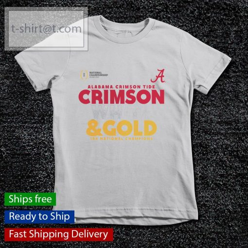 Alabama Crimson Tide White and Gold 18x National Champions College Football Playoff 2020 s youth-tee