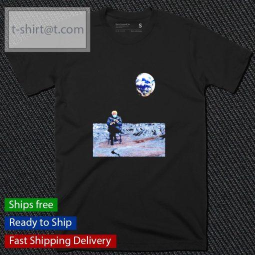 Bernie Sanders sitting on the moon shirt