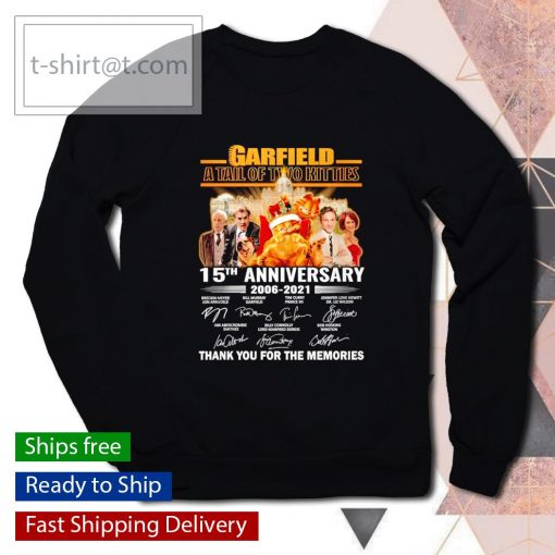 Garfield a tail of two kitties 15th anniversary 2006 2021 thank you for the memories s sweater