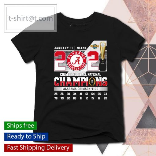 January 11 Miami 2021 College Football National Champions Alabama Crimson Tide s ladies-tee