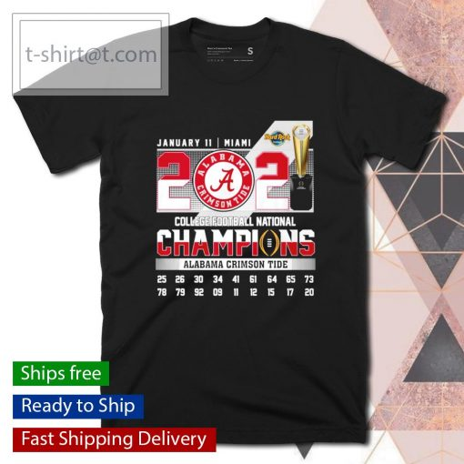 January 11 Miami 2021 College Football National Champions Alabama Crimson Tide shirt