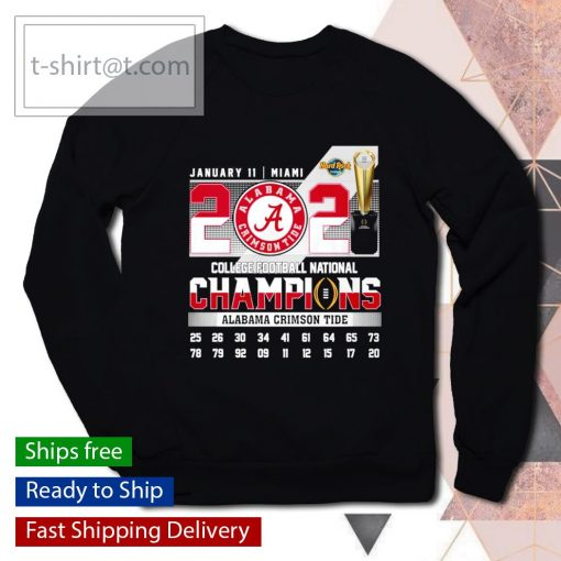 January 11 Miami 2021 College Football National Champions Alabama Crimson Tide s sweater