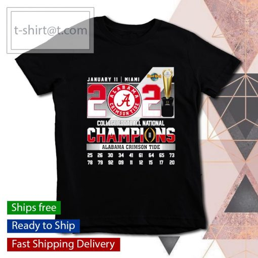 January 11 Miami 2021 College Football National Champions Alabama Crimson Tide s youth-tee