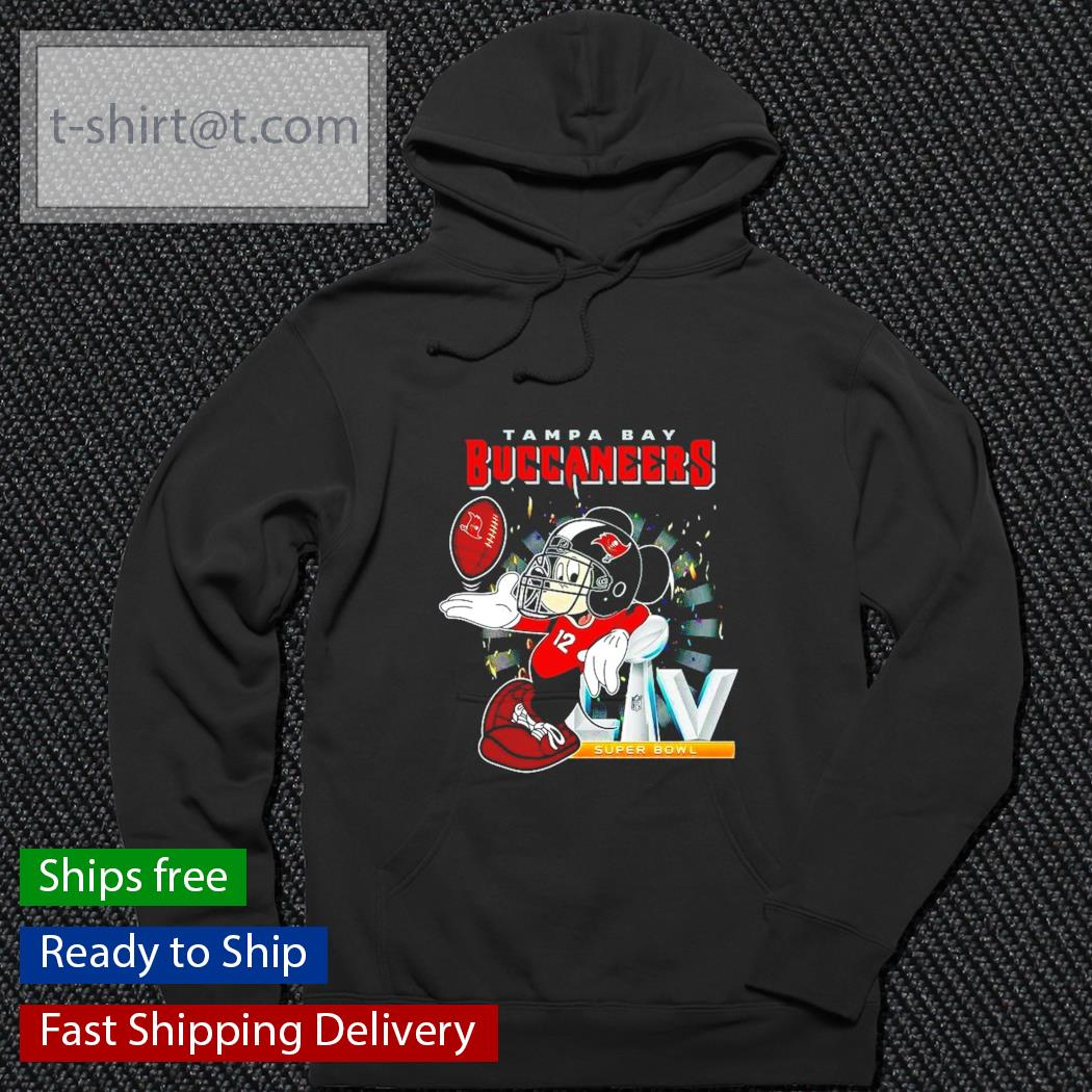 LIV Tampa Bay Buccaneers Super Bowl Mickey Mouse Tom Brady shirt
