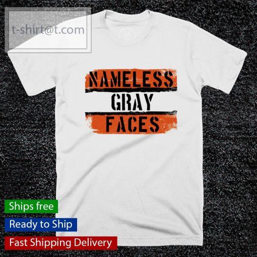 Namless gray faces Cleveland Browns shirt