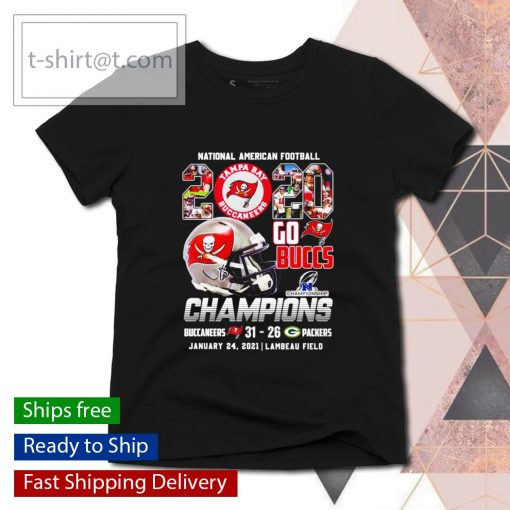 National American Football 2020 Go Buccs Champions 31 26 Packers s ladies-tee