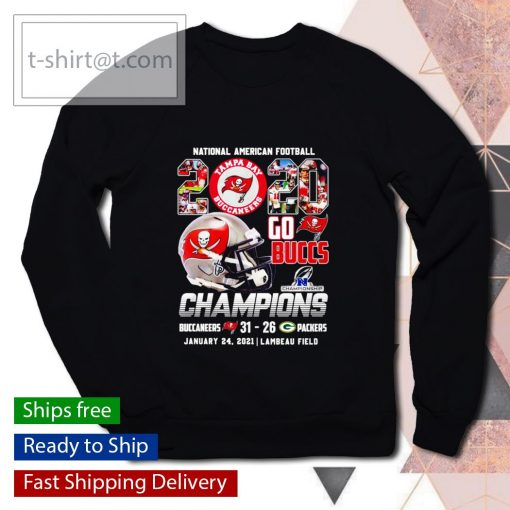 National American Football 2020 Go Buccs Champions 31 26 Packers s sweater