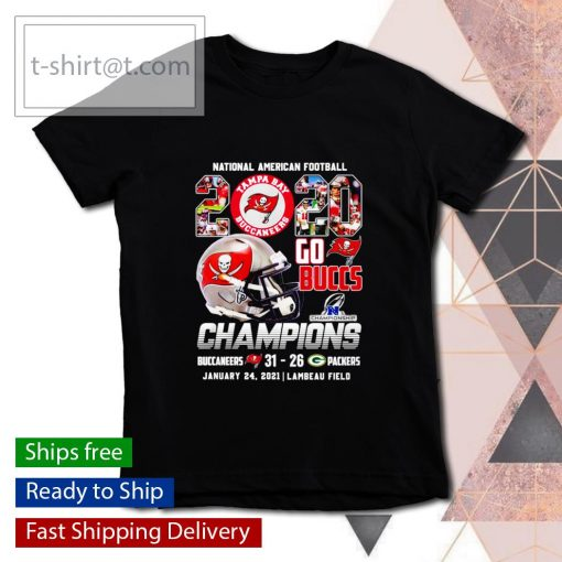 National American Football 2020 Go Buccs Champions 31 26 Packers s youth-tee