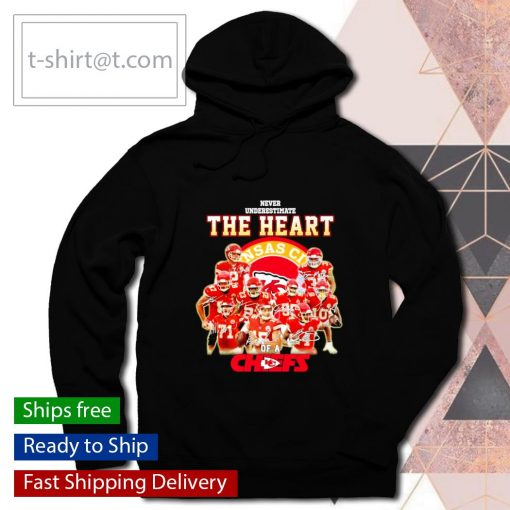 Never underestimate the heart of Chiefs signatures s hoodie