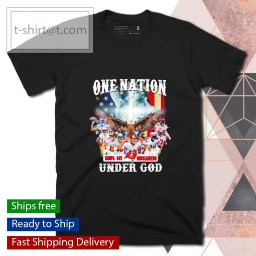 One nation Tampa Bay Buccaneers under God shirt