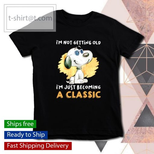 Snoopy I'm not getting old I'm just becoming a classic s youth-tee