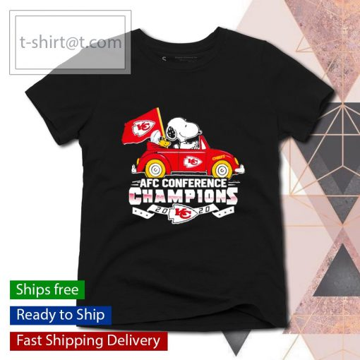 Snoopy Kansas City Chiefs AFC Conference Champions 2020 s ladies-tee