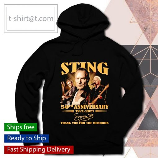 Sting 50th anniversary 1971 2021 thank you for the memories s hoodie