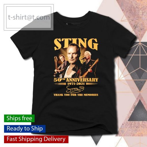 Sting 50th anniversary 1971 2021 thank you for the memories s ladies-tee