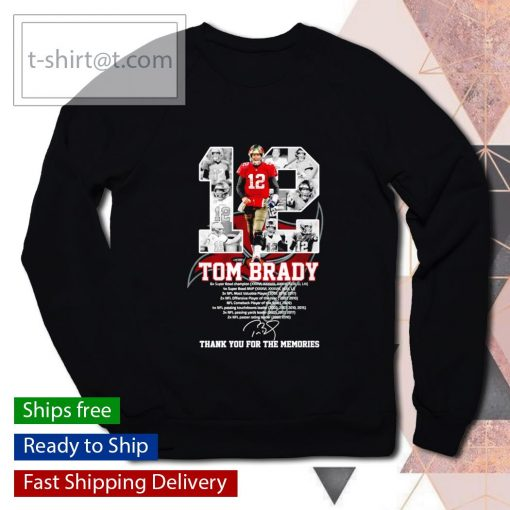 Tampa Bay Buccaneers 12 Tom Brady thank you for the memories s sweater