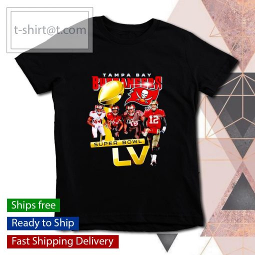 Tampa Bay Buccaneers Super Bowl LV signatures s youth-tee