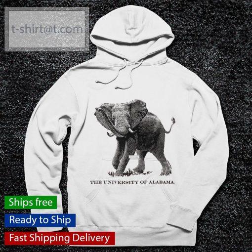 The University Of Alabama Black Line Elephant s hoodie