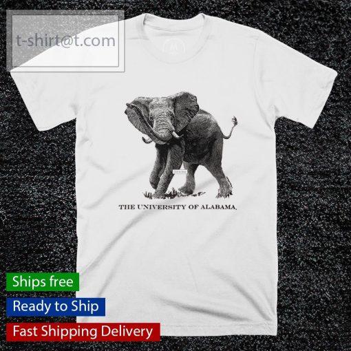 The University Of Alabama Black Line Elephant shirt