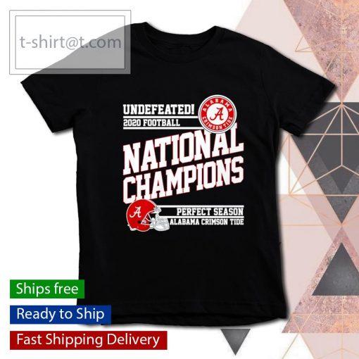 Undefeated 2020 Football National Champions perfect season Alabama Crimson Tide s youth-tee