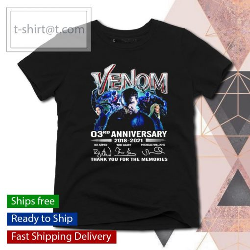 Venom 03rd anniversary 2018 2021 thank you for the memories s ladies-tee