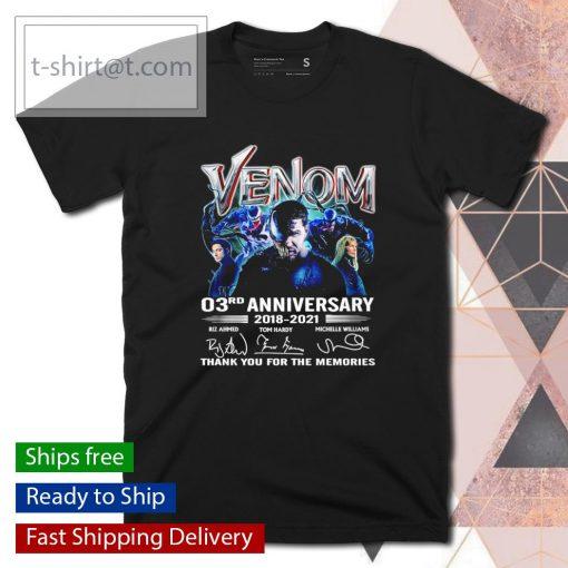 Venom 03rd anniversary 2018 2021 thank you for the memories shirt