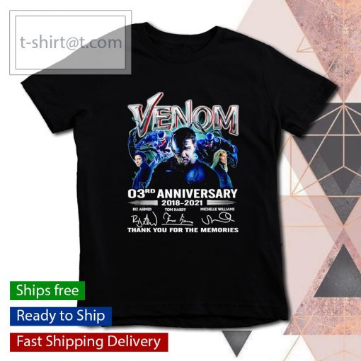 Venom 03rd anniversary 2018 2021 thank you for the memories s youth-tee