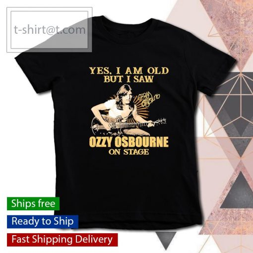 Yes I am old but I saw Ozzy Osbourne on stage signature s youth-tee