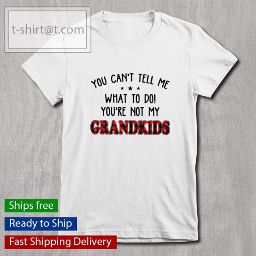 You can't tell me what to do you're not my Grandkids s Ladies-tee