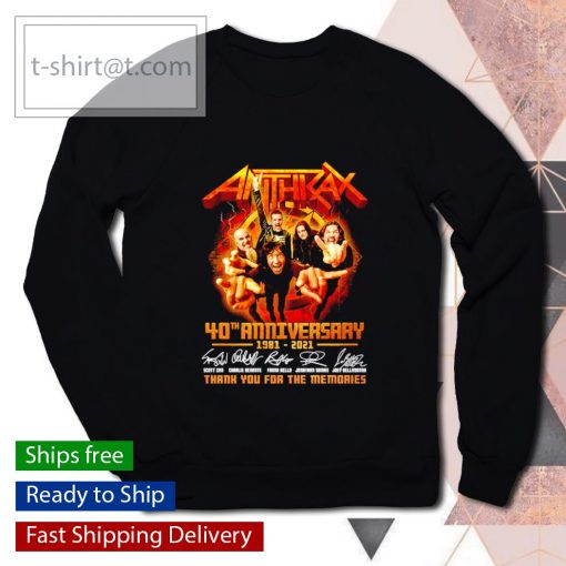 Anthrax 40th anniversary 1981 2021 thank you for the memories s sweater