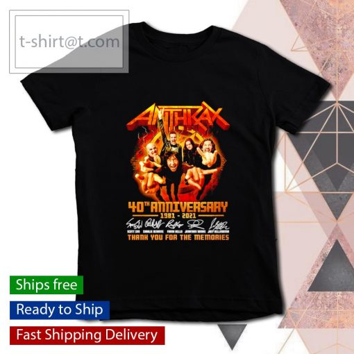 Anthrax 40th anniversary 1981 2021 thank you for the memories s youth-tee