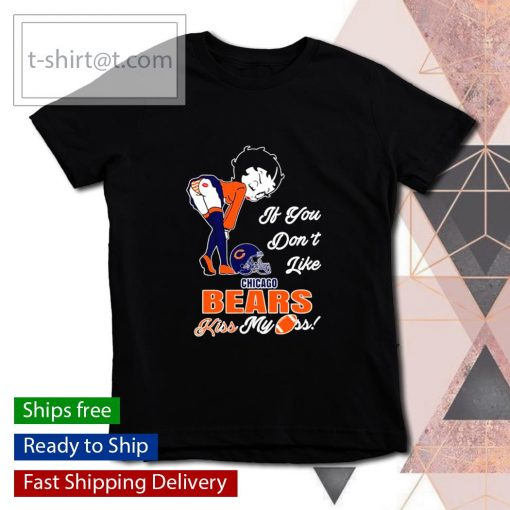 Betty Boop if you don't like Chicago Bears kiss my ass s youth-tee