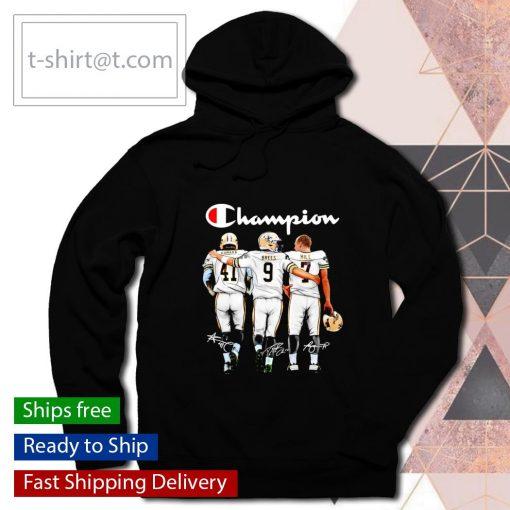 Champion Alvin Kamara Drew Brees Taysom Hill signatures s hoodie