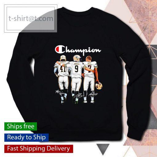 Champion Alvin Kamara Drew Brees Taysom Hill signatures s sweater
