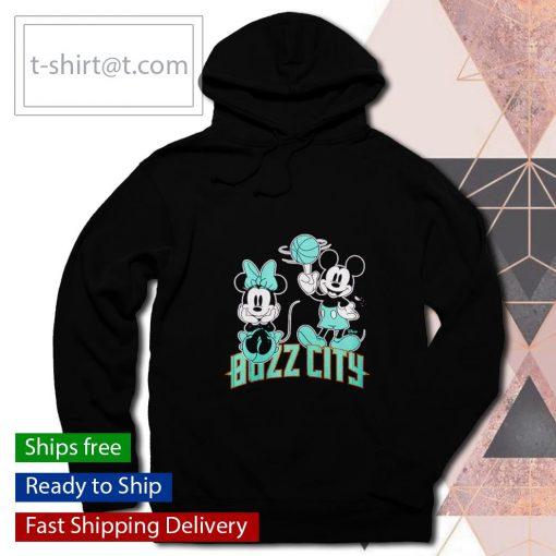 Charlotte Hornets Disney Mickey and Minnie s hoodie