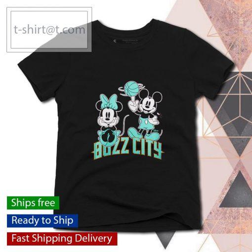 Charlotte Hornets Disney Mickey and Minnie s ladies-tee