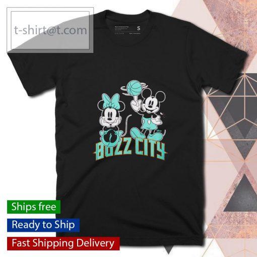 Charlotte Hornets Disney Mickey and Minnie shirt