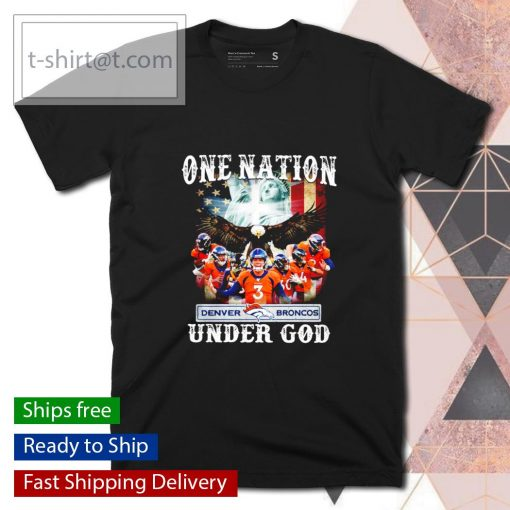 Denver Broncos one nation under God shirt