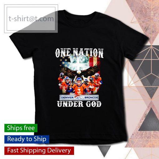 Denver Broncos one nation under God s youth-tee